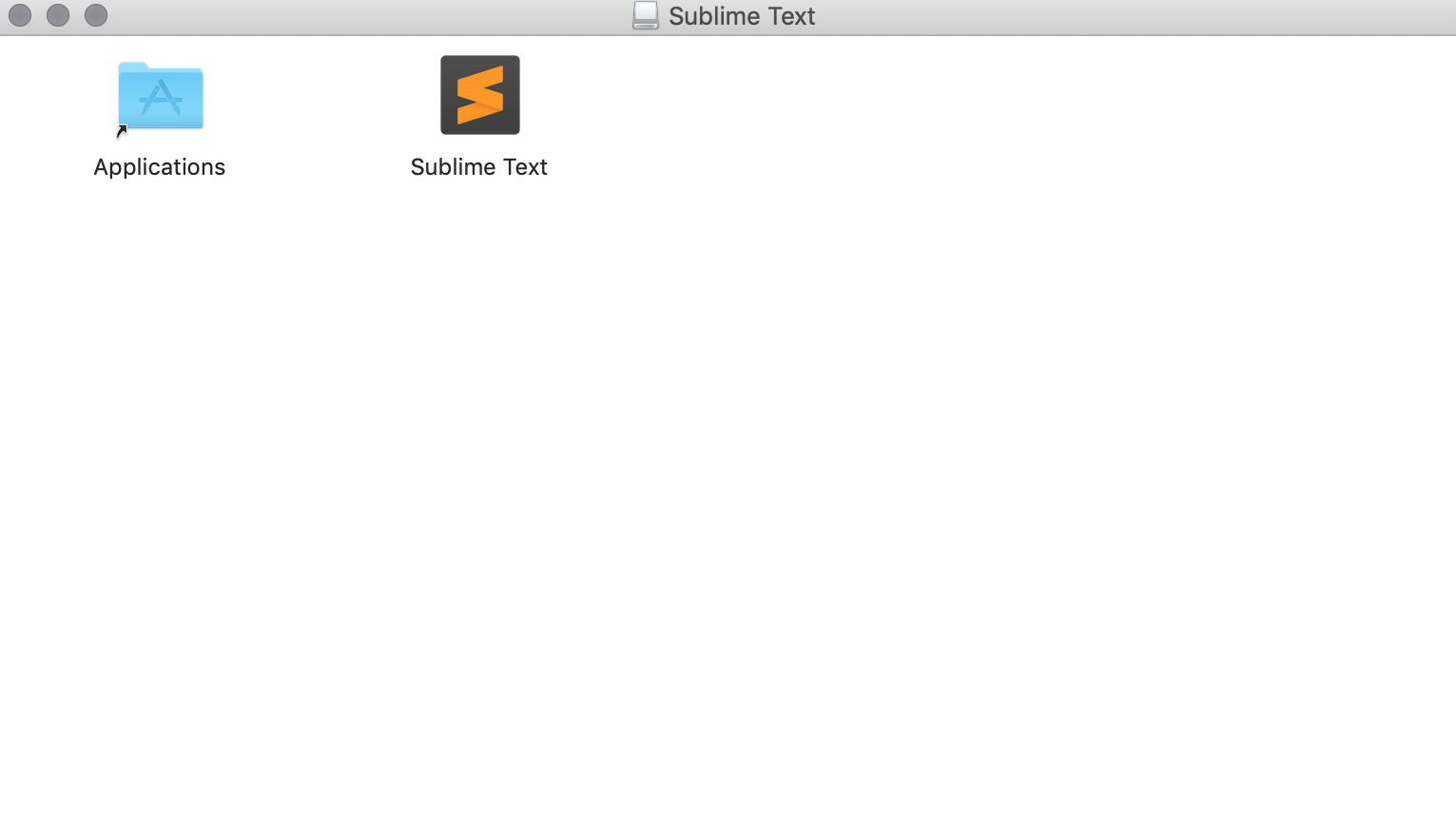 Install sublime text on mac by dragging into application folder - Sikademy